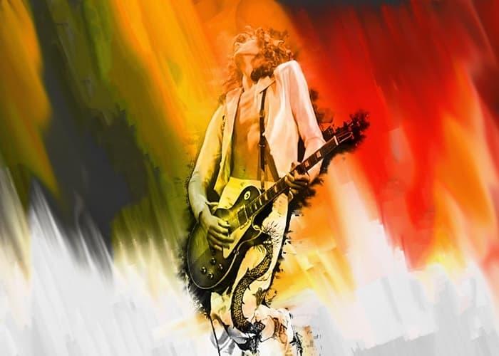 Guitarrista dibujo