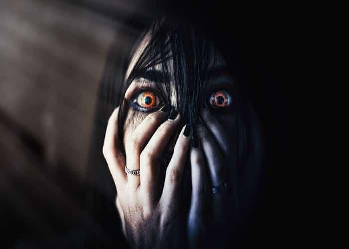Imagen terrorífica de miedo