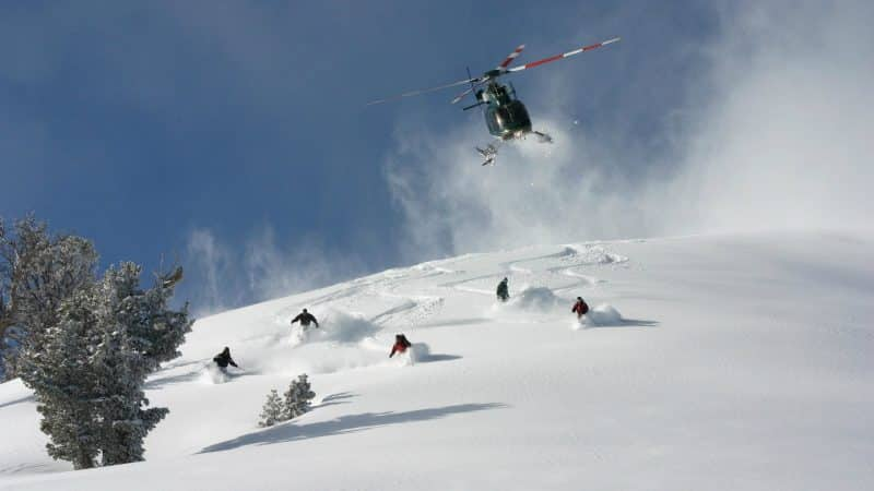Heliski con helicoptero