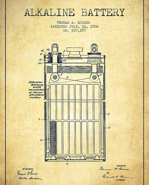 Pila alcalina - Invento de Thomas Alva Edison