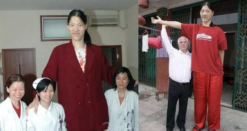 Mujer más alta Yao Defen